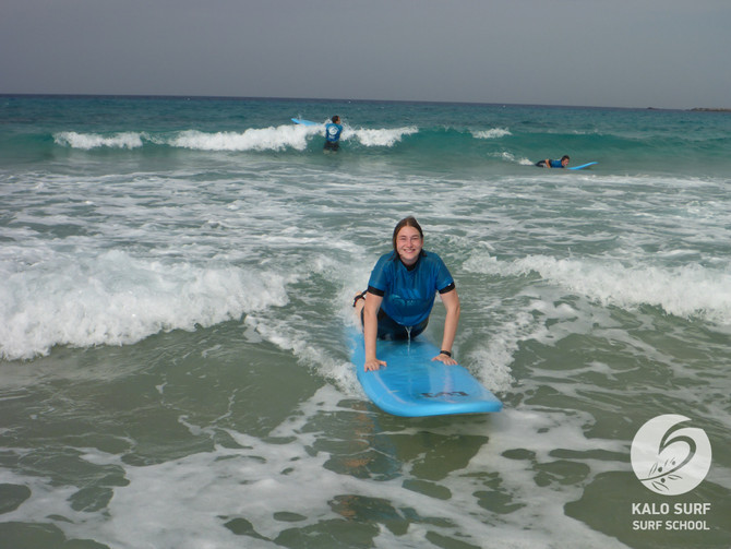 Lots of Fun at the Beginner Surf Lesson in Crete