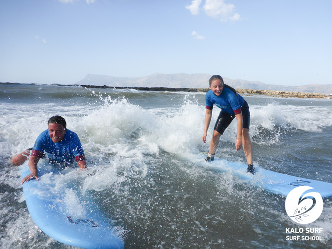 Surf Lessons for the whole Family in Kissamos