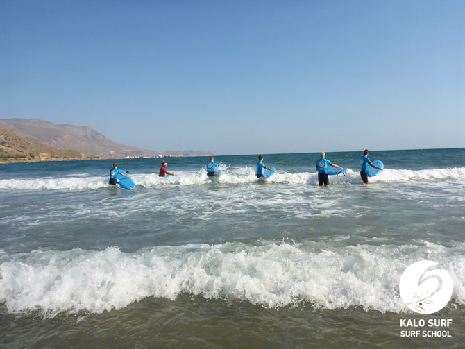 Extraordinary Morning Surf Course in Crete