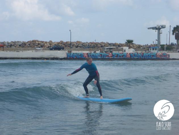 Surfing in Crete, Surfer, Surfboard, Waves