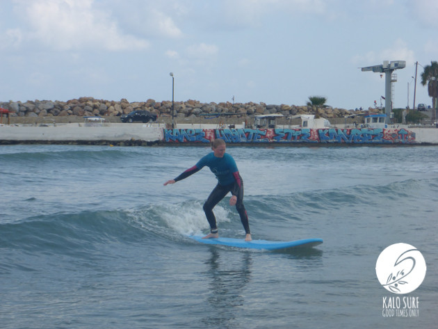 Surf course in October in Crete with Kalo Surf