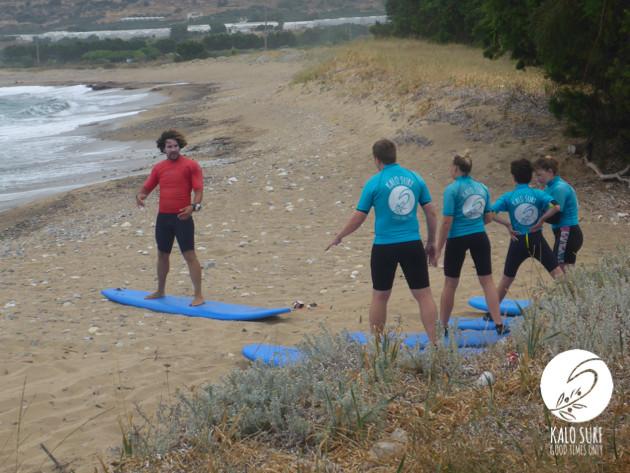 reef surfing in Falassarna