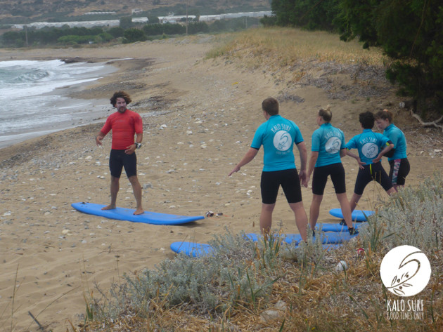 Surfing the Reef in Falassarna