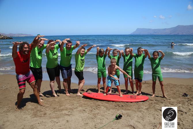 Family Fun at Kalo Surf in Crete
