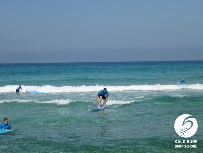 Magical Morning Light during the Surf Lesson in Greece