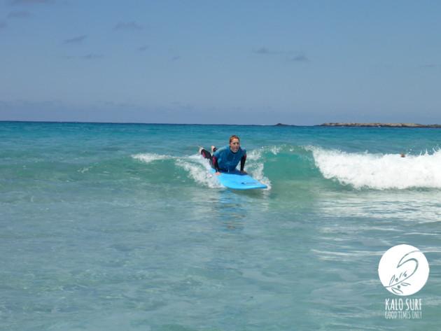 Waves, Falassarna, surfer catching wave,