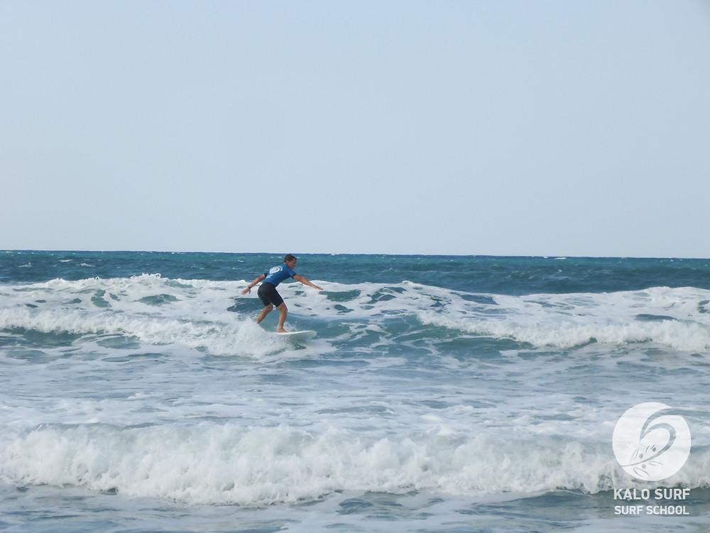intermediate surf lesson, Crete Greece