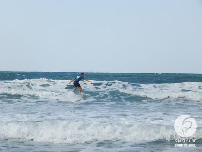 Intermediate Surf Lesson in September in Greece