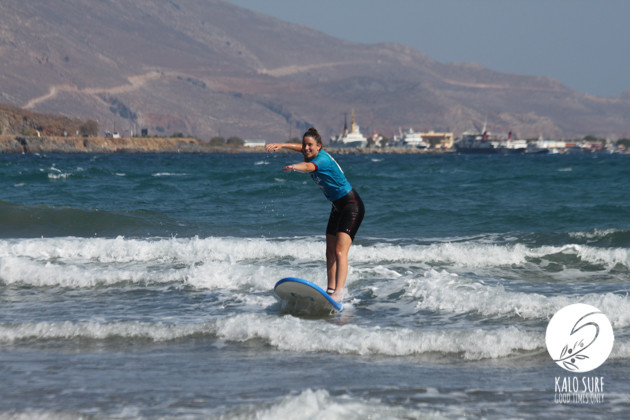 first wave in kissamos for Catarina