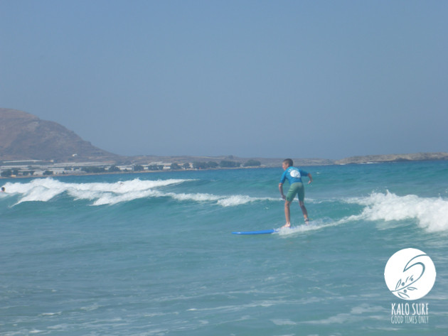kid surfer in Falassarna