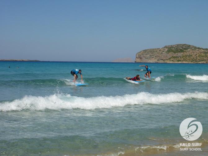 Traumtag am letzten Augusttag beim Wellenreiten auf Kreta