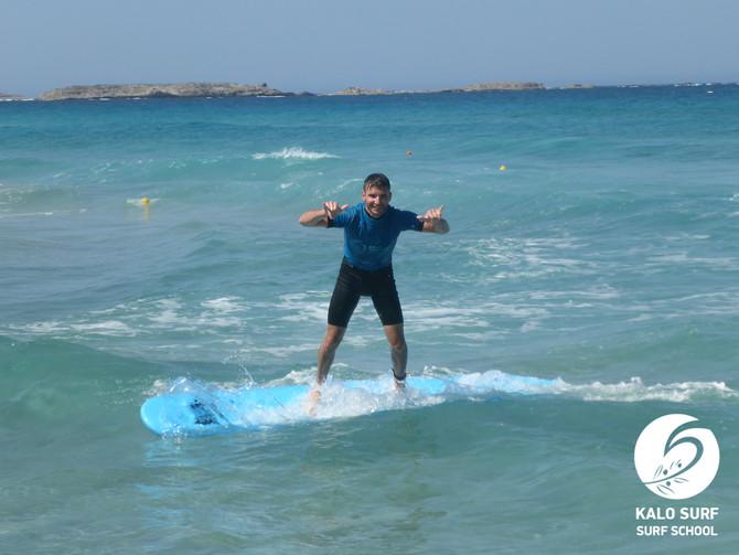 Wellenreitkurs im Sommer in Griechenland