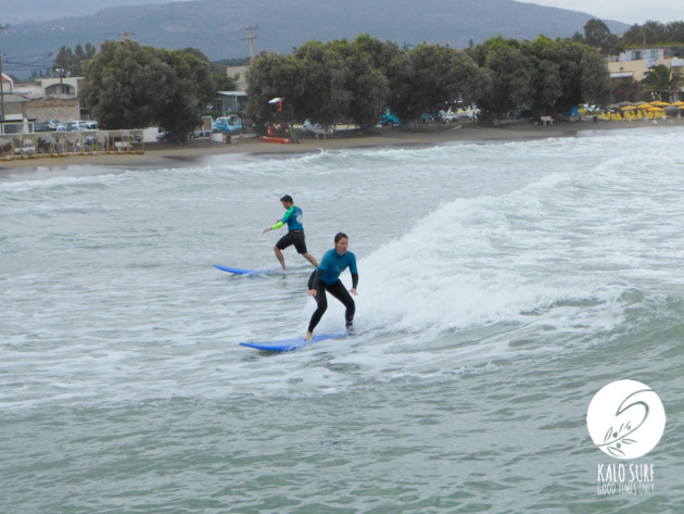 Surfing During the Storm in Crete