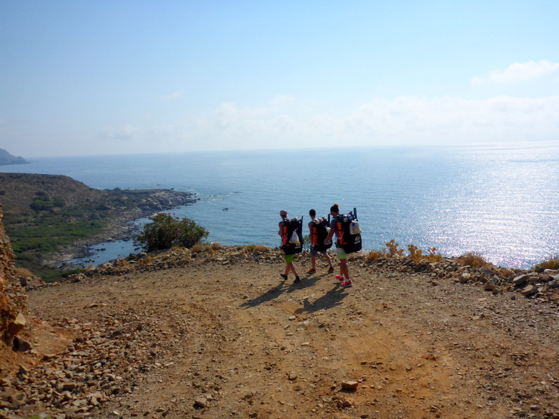 hiking with a SUP in Crete