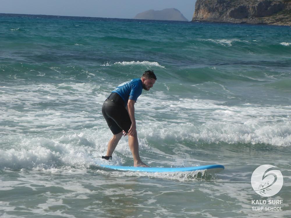 Beginner Surfing Falassarna
