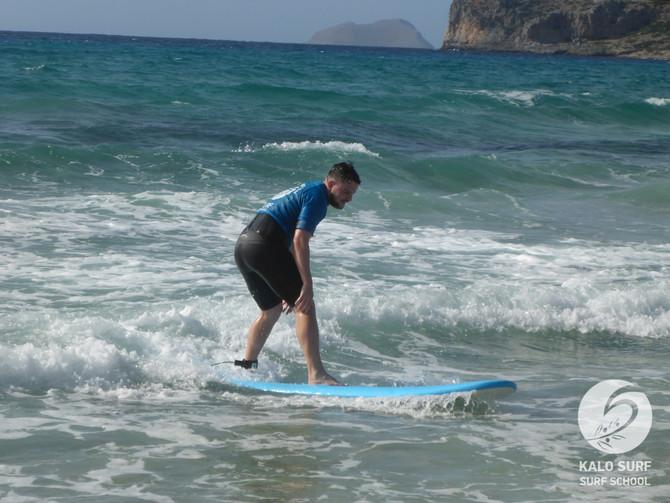 Beginner Surf Lesson in Empty Falassarna