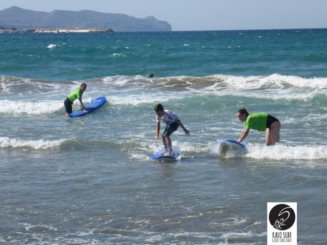 Family Surfing in Full Swing