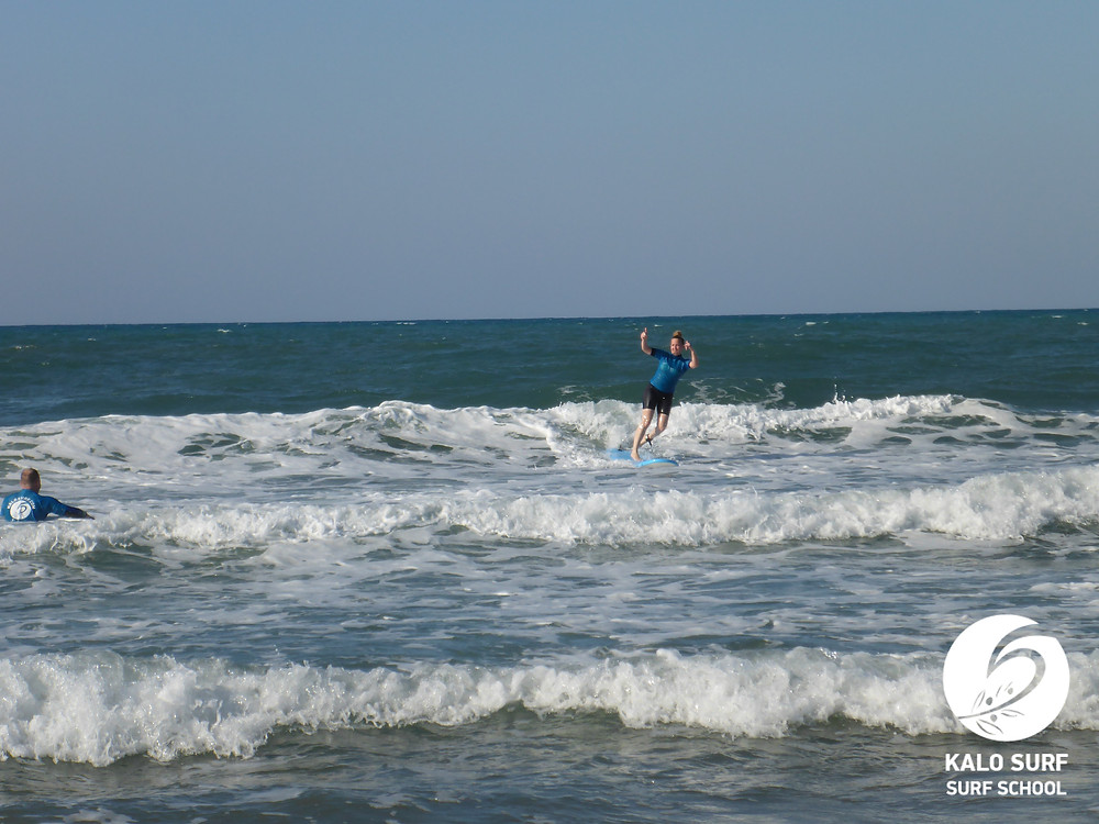surfing Crete, surf lesson, Kalo Surf