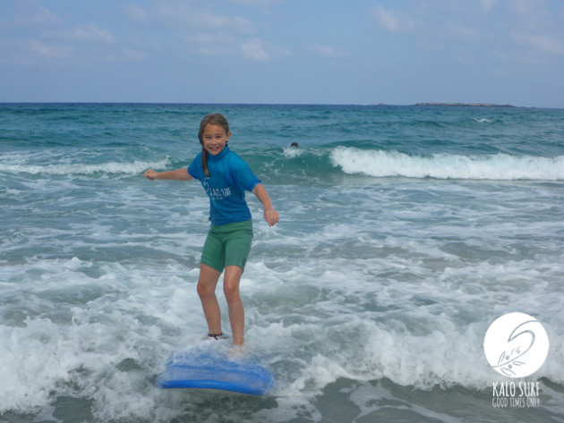 Surfer girls and surfer boys in Crete
