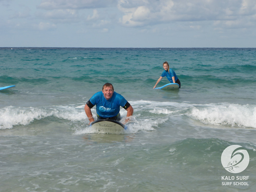 catching waves, surf lesson, Crete, Greece