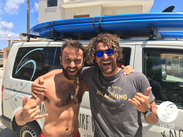Happy faces after the surf course