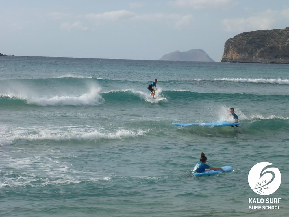 Offshore Wind, Wellen, Surfspot Falassarna