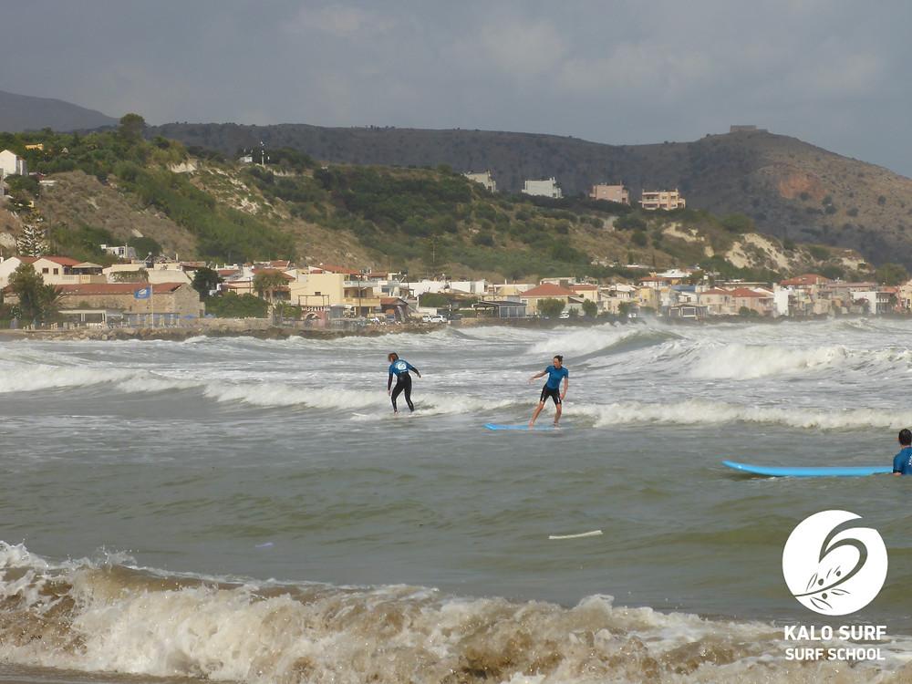 surf course, Chania, Crete