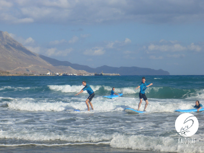 Surfing in September with Kalo Surf