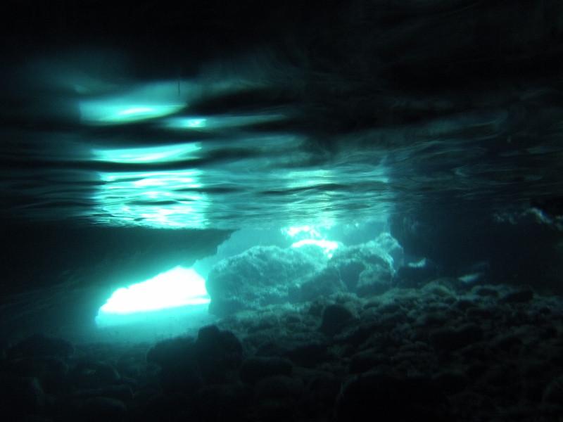 Cave in Crete under water