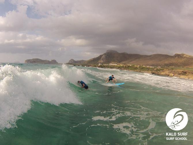 Legendäre Surfsession bei Platzregen und Sonnenschein in Falassarna