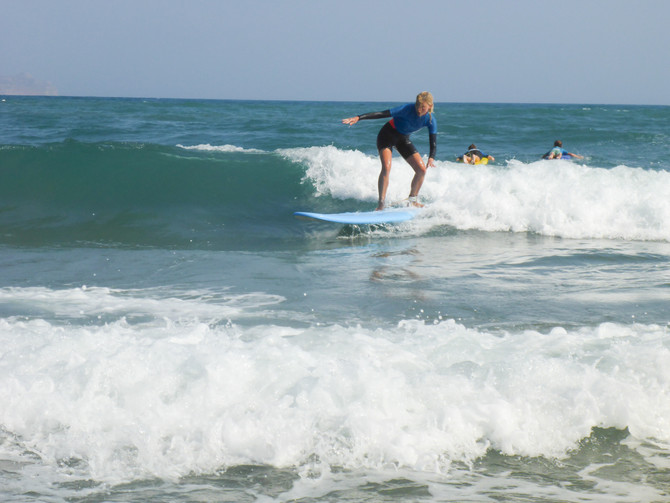 Perfect glassy waves and intermediate surfing in Crete!