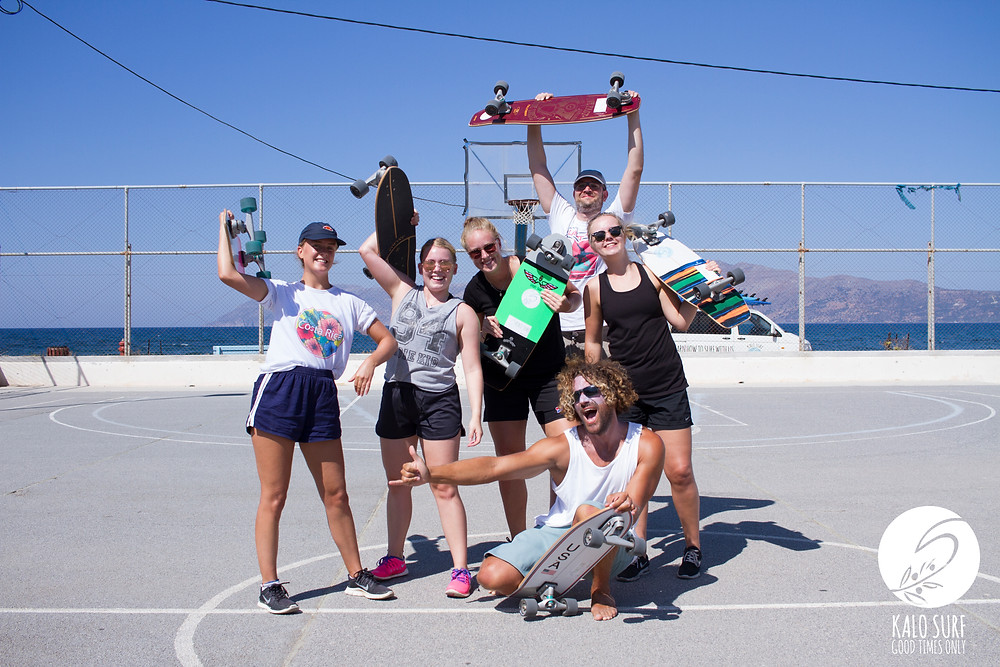 carver, carverboard, group picture, surfschool