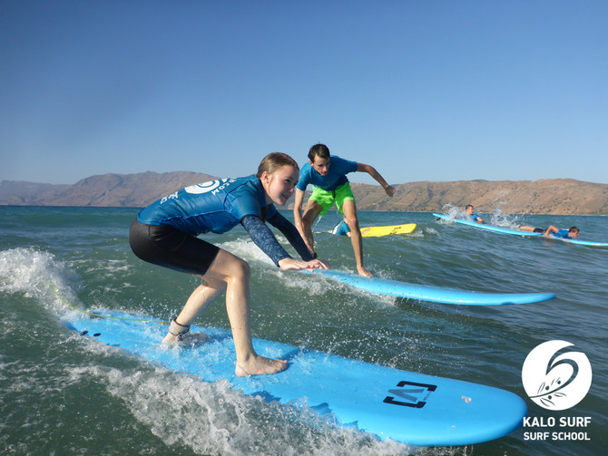 Just a regular Monday - learning how to Surf in Crete