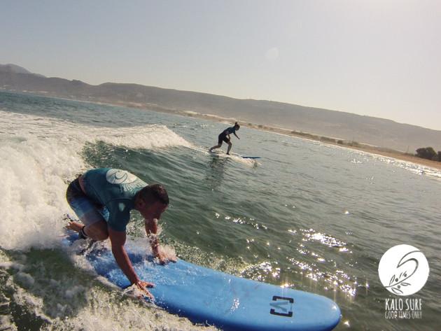 Take-off beim Surfen am Riff