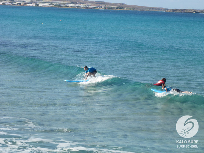 Blue Skies, Glassy Waves, Surfing at its Best