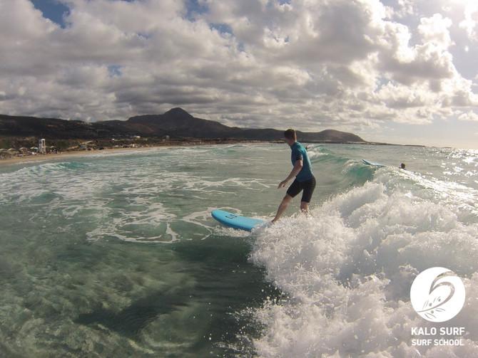 Wellenreitkurs am Strand von Falassarna in Kissamos