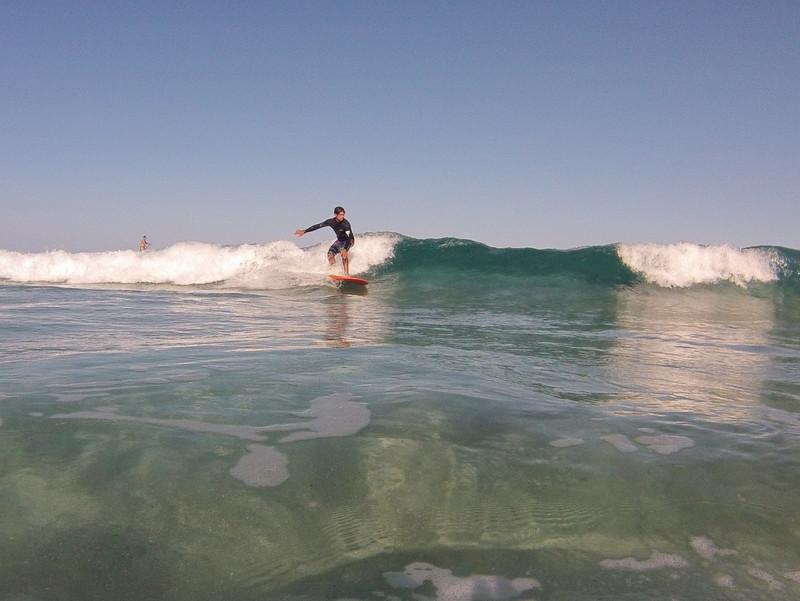 surfing unbroken waves in greece