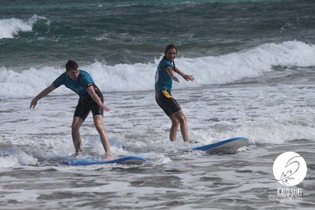 Wellenreiten auf Kreta im Oktober