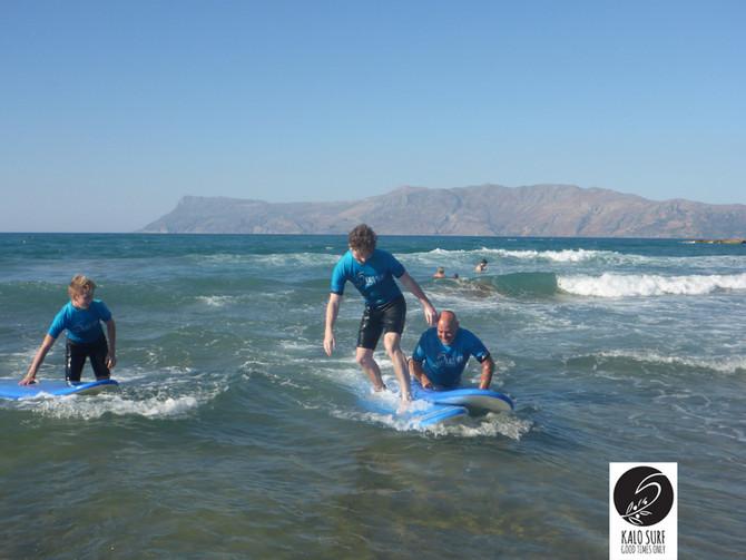 Family Fun times at Kalo Surf