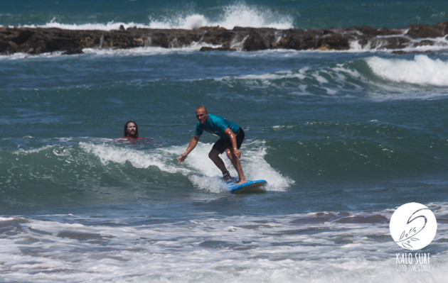 mellow wave with surfer