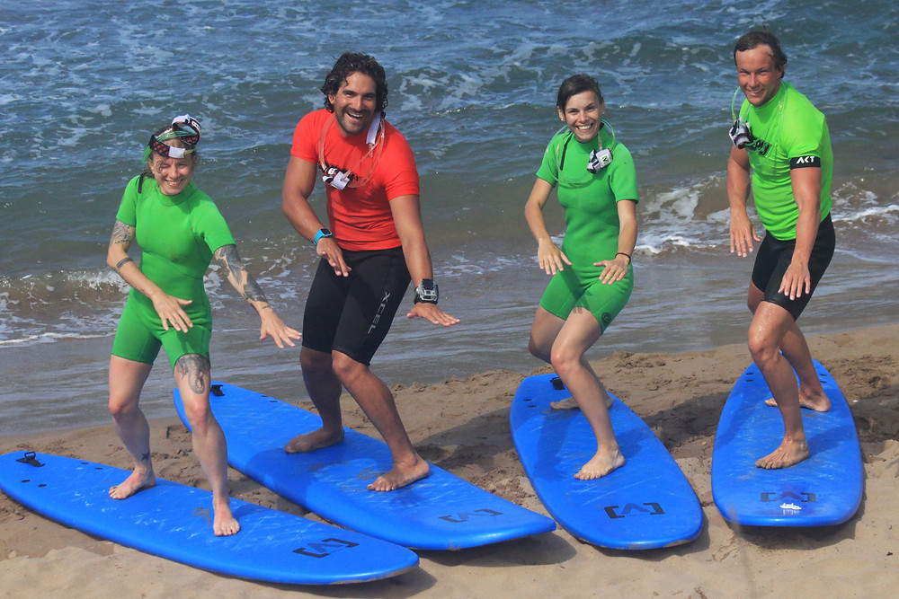 group pictre after surfing Kissamos Beach Break