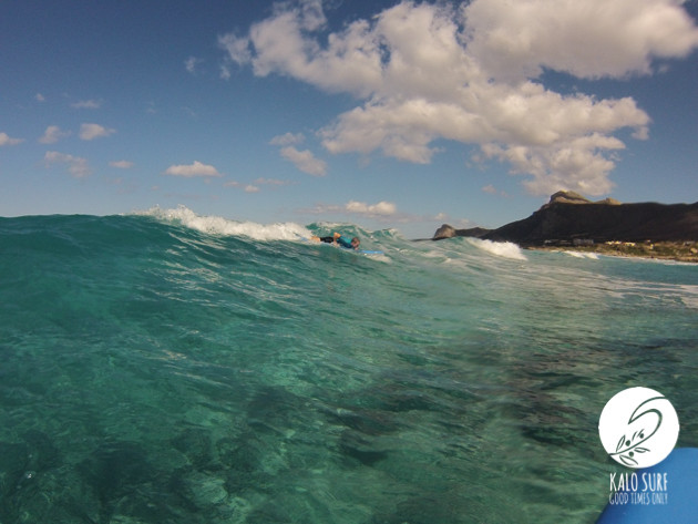 surfing the western swell of Crete