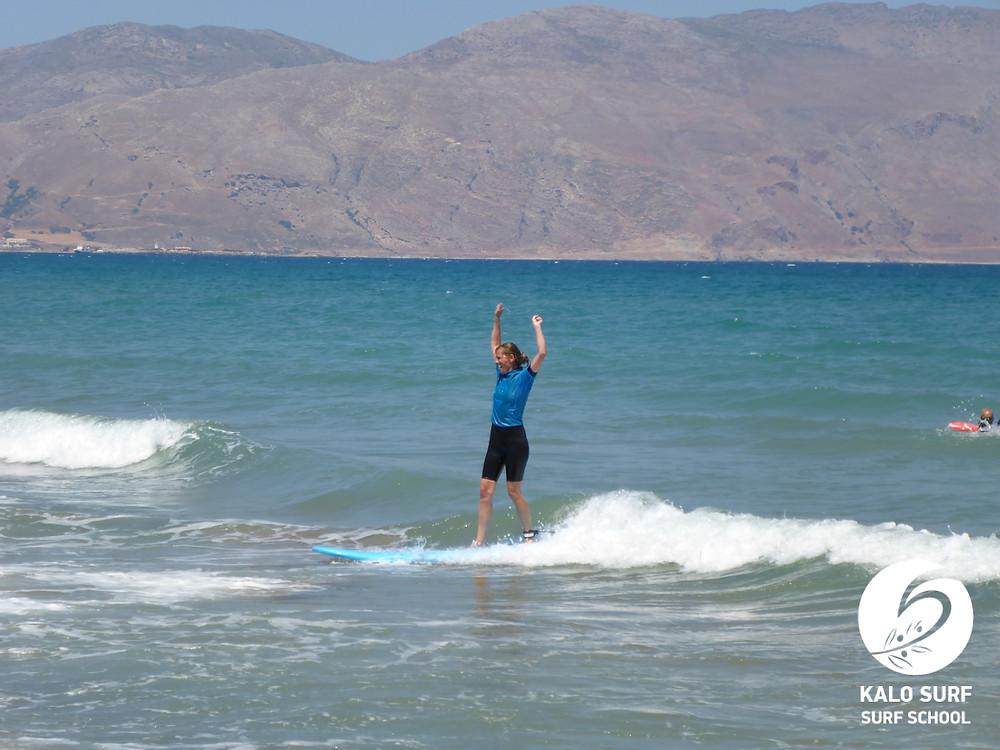 waves in Crete, surfing waves
