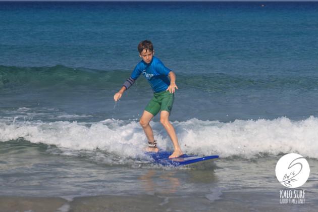 surfing glassy waves in Falassarna Crete