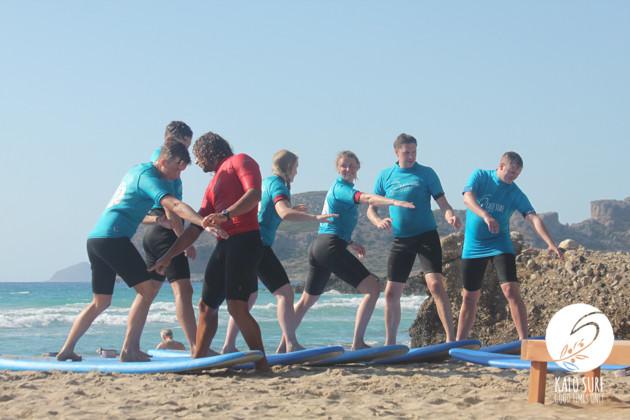 Team Sweden goes Surfing in Greece