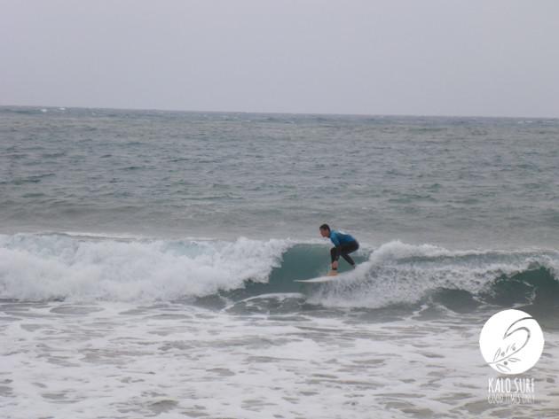 Surfing waves in Crete