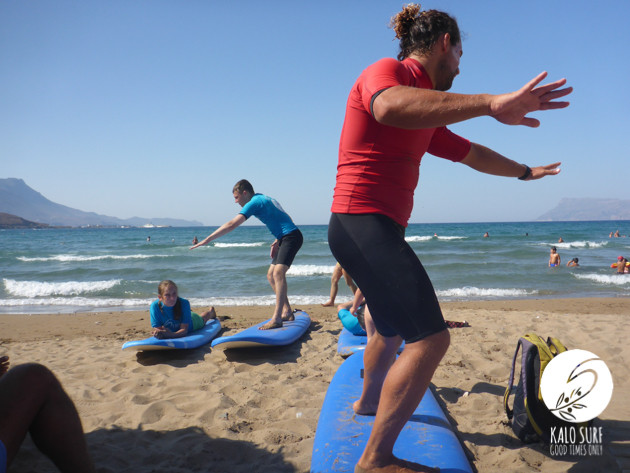 Surf course with Kalo Surf in Chania Region