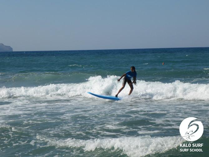 Surfkurs für Kinder und Erwachsene in Kissamos