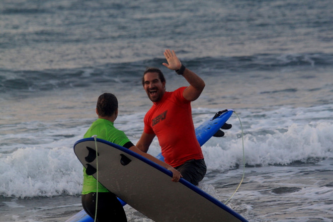 Big success of surfing at Kalo Surf