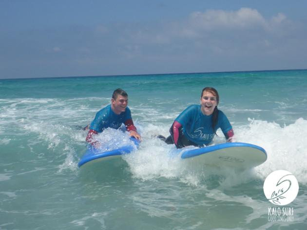 surfers in Falassarna